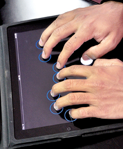 Sohan Dharmaraja: Turning touchscreens into braille type writers
