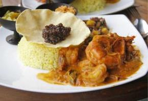 Sivenesan and Kumar Sangakkarra: Seafood inColombo